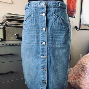 GAP 1969 High Waisted Denim Skirt size 28 T